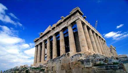 معبد پارتنون پرستشگاه یکی از الهه های یونان به نام آتناست